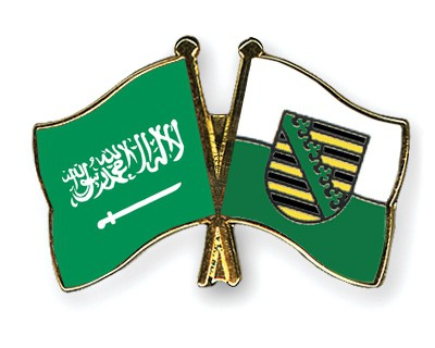 Crossed Flag Pins Saudi-Arabia-Saxony
