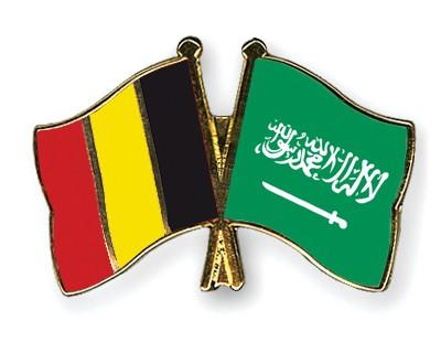 Special Offer Crossed Flag Pins Belgium-Saudi-Arabia
