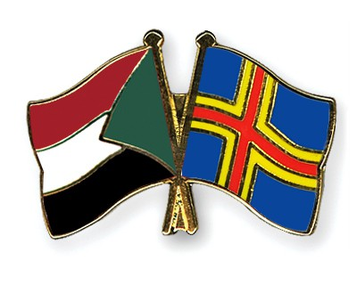 Crossed Flag Pins Sudan-Aland