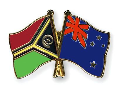 Crossed Flag Pins Vanuatu-New-Zealand