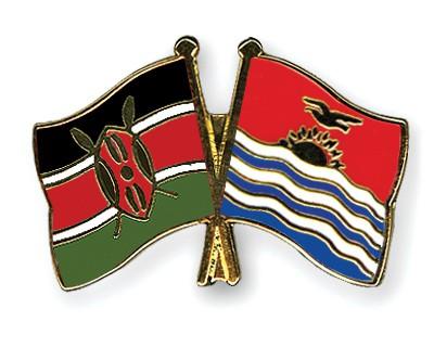 Crossed Flag Pins Kenya-Kiribati