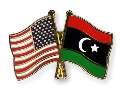 Special Offer Crossed Flag Pins USA-Libya