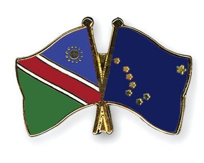 Crossed Flag Pins Namibia-Alaska