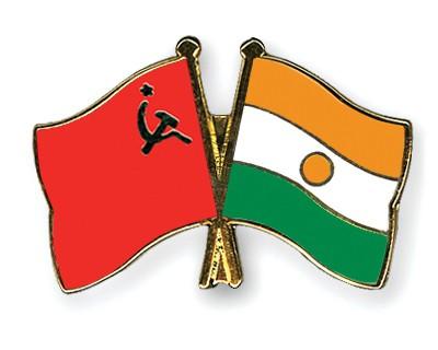 Crossed Flag Pins USSR-Niger