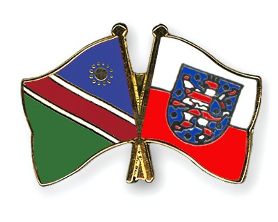 Crossed Flag Pins Namibia-Thuringia