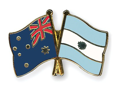 Crossed Flag Pins Australia-Argentina