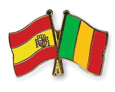Crossed Flag Pins Spain-Mali