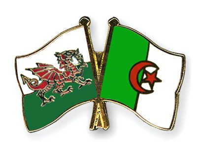 Crossed Flag Pins Wales-Algeria