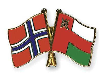 Crossed Flag Pins Norway-Oman