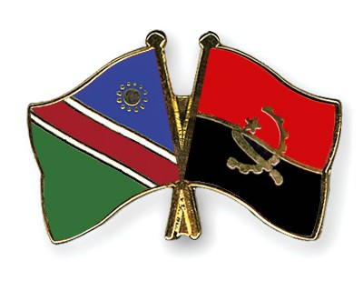 Crossed Flag Pins Namibia-Angola