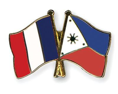 Special Offer Crossed Flag Pins France-Philippines