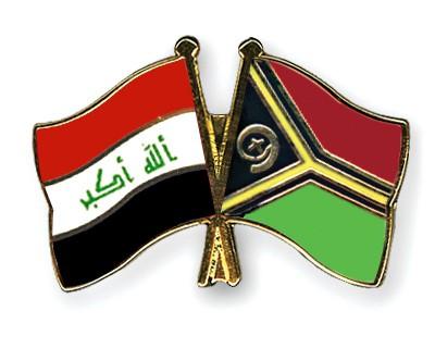 Crossed Flag Pins Iraq-Vanuatu