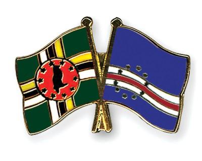 Crossed Flag Pins Dominica-Cape-Verde