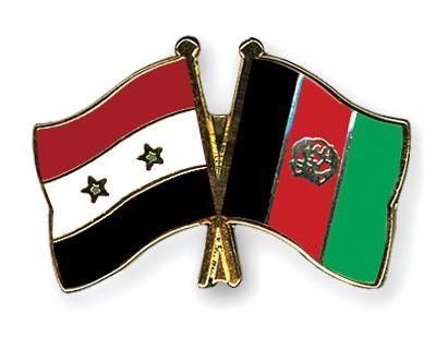 Crossed Flag Pins Syria-Afghanistan