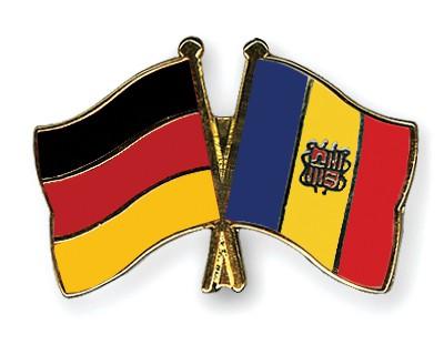 Crossed Flag Pins Germany-Andorra
