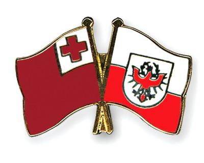 Crossed Flag Pins Tonga-Tyrol