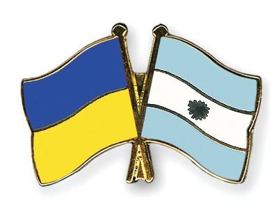 Crossed Flag Pins Ukraine-Argentina