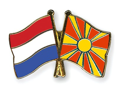 Special Offer Crossed Flag Pins Netherlands-Macedonia
