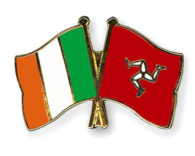 Crossed Flag Pins Ireland-The-Isle-of-Man