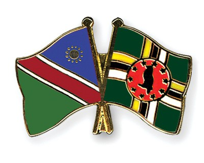 Crossed Flag Pins Namibia-Dominica