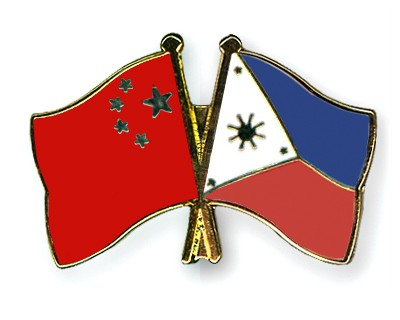 Crossed Flag Pins China-Philippines