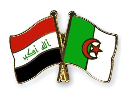 Crossed Flag Pins Iraq-Algeria