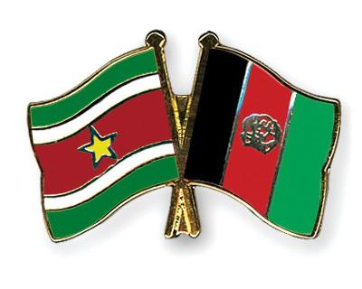 Crossed Flag Pins Suriname-Afghanistan
