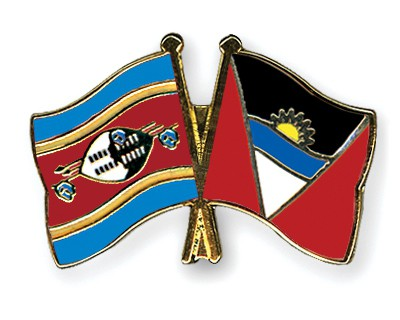 Crossed Flag Pins Swaziland-Antigua-and-Barbuda