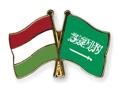 Special Offer Crossed Flag Pins Hungary-Saudi-Arabia
