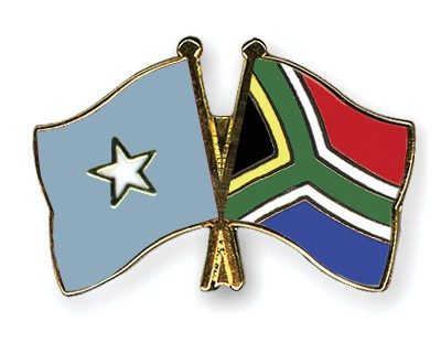 Crossed Flag Pins Somalia-South-Africa