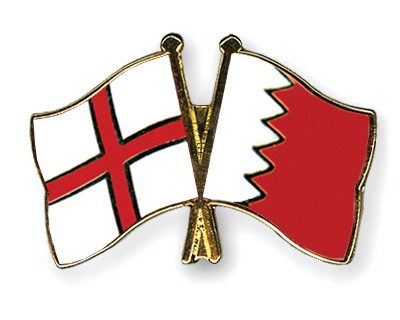 Crossed Flag Pins England-Bahrain
