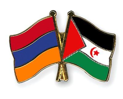 Crossed Flag Pins Armenia-Western-Sahara