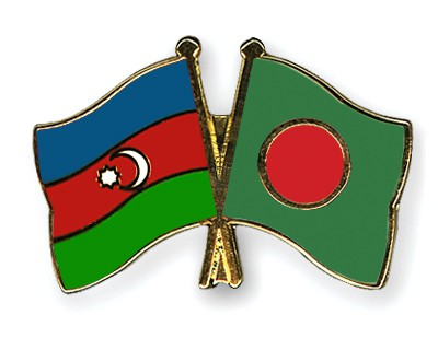 Crossed Flag Pins Azerbaijan-Bangladesh