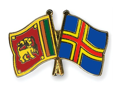 Crossed Flag Pins Sri-Lanka-Aland