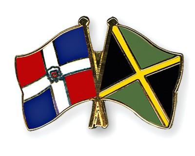 Crossed Flag Pins Dominican Republic Jamaica