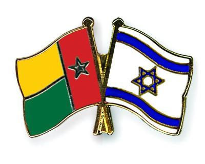 Crossed Flag Pins Guinea-Bissau-Israel
