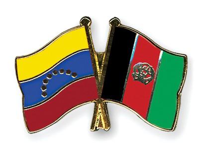 Crossed Flag Pins Venezuela-Afghanistan