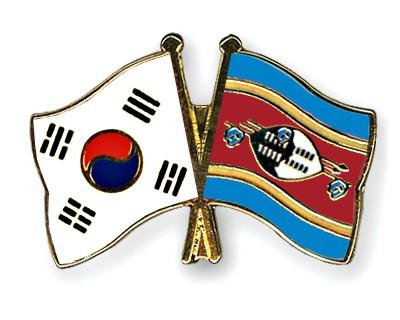 Crossed Flag Pins South-Korea-Swaziland