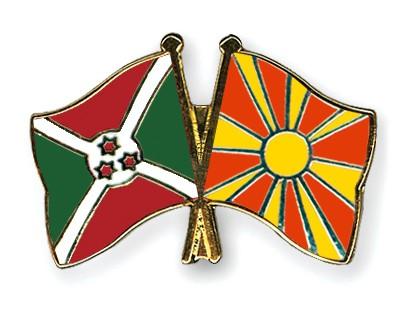 Crossed Flag Pins Burundi-Macedonia