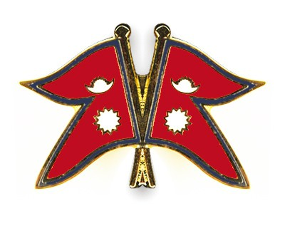 Crossed Flag Pins Nepal-Nepal