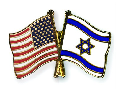 Crossed Flag Pins USA-Israel
