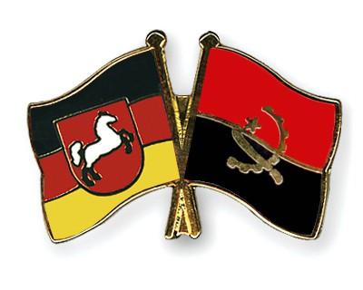 Crossed Flag Pins Lower-Saxony-Angola