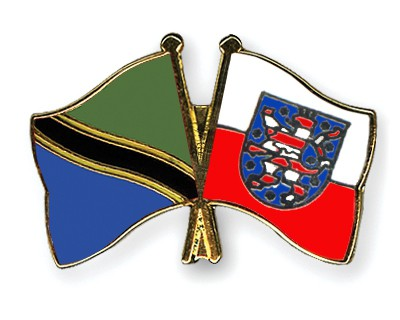 Crossed Flag Pins Tanzania-Thuringia