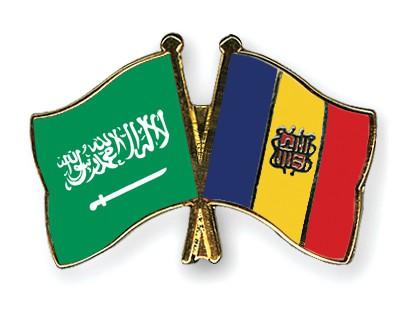 Crossed Flag Pins Saudi-Arabia-Andorra