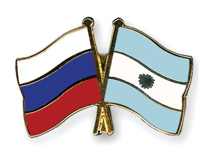 Crossed Flag Pins Russia-Argentina