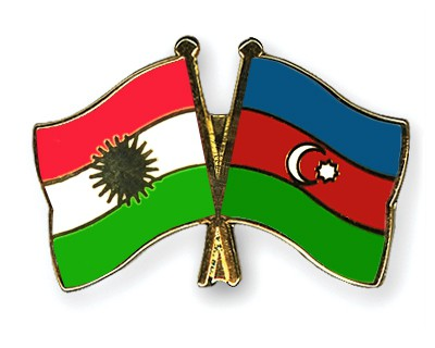 Crossed Flag Pins Kurdistan-Azerbaijan