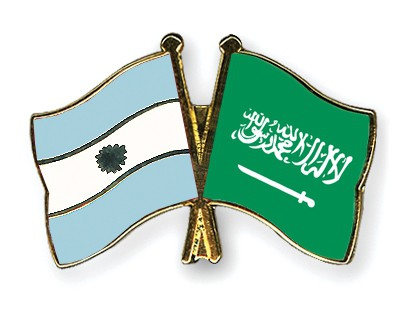 Special Offer Crossed Flag Pins Argentina-Saudi-Arabia