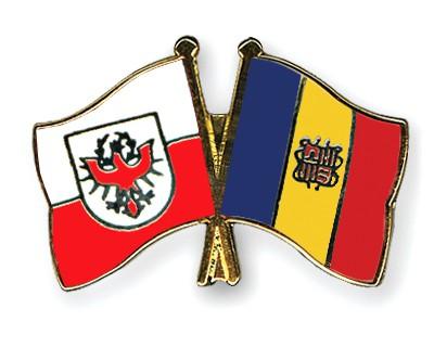 Crossed Flag Pins Tyrol-Andorra