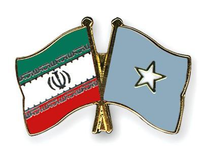 Crossed Flag Pins Iran-Somalia