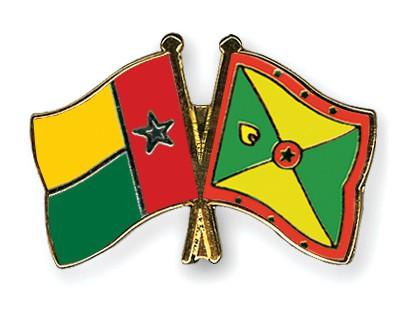Crossed Flag Pins Guinea-Bissau-Grenada